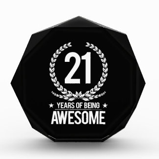 21st Birthday (21 Years Of Being Awesome) Acrylic Award