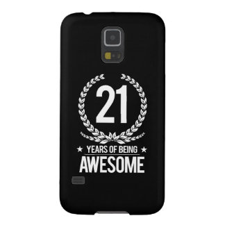 21st Birthday (21 Years Of Being Awesome) Galaxy S5 Case
