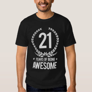 21st Birthday (21 Years Of Being Awesome) T-Shirt