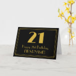 "[ Thumbnail: 21st Birthday: Art Deco Inspired Look ""21"" + Name Card ]"