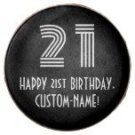 "[ Thumbnail: 21st Birthday - Art Deco Inspired Look ""21"", Name ]"