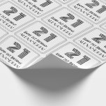 """[ Thumbnail: 21st Birthday: Art Deco Inspired Style """"21"""" + Name Wrapping Paper ]"""