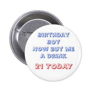 21st Birthday Badge Pins