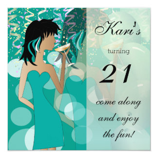 21st Birthday Bash Party Card