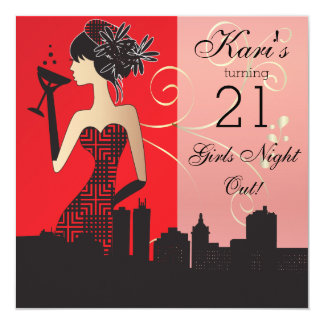21st Birthday Bash Party Card