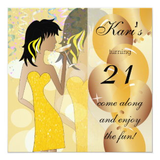 21st Birthday Bash Party in Yellow Card