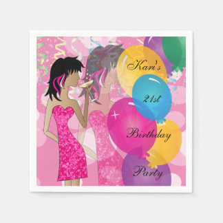 21st Birthday Bash Party | Template | DIY Paper Napkin