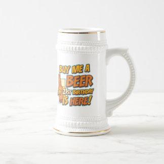 21st Birthday Beer 18 Oz Beer Stein