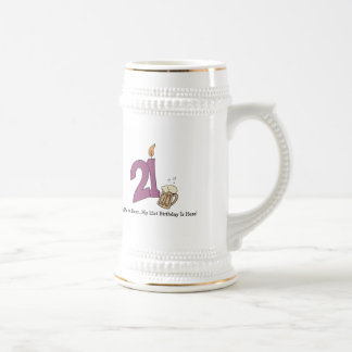 21st Birthday Beer (customizable) Beer Stein
