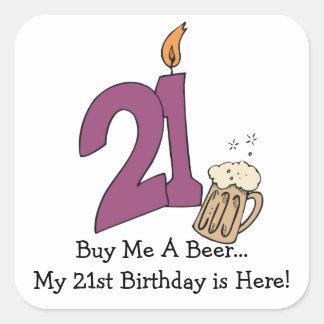 21st Birthday Beer (customizable) Sticker
