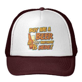 21st Birthday Beer Mesh Hats