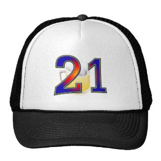 21st birthday beer trucker hat