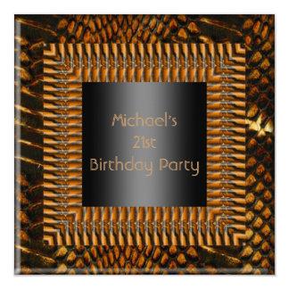 21st Birthday Black Bamboo Frame Card