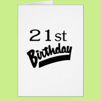 21st Birthday Black Card