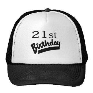 21st Birthday Black Mesh Hats