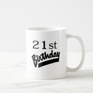 21st Birthday Black Mug