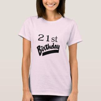 21st Birthday Black T-Shirt