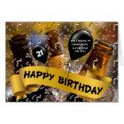 21st Birthday - Bucket of Beer Custom Card
