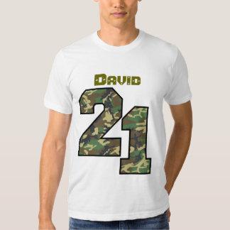 21st Birthday Camo One Year Custom Name V021 T Shirt