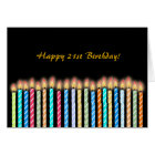 21st Birthday Candles Card Customize