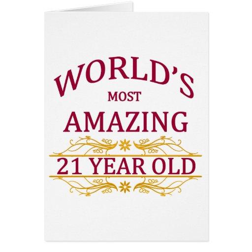 21st. Birthday Card