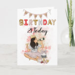 "21st Birthday Card Glam glitter card<br><div class=""desc"">Beautiful and glam card the age can be changed to suit any special birthday age</div>"