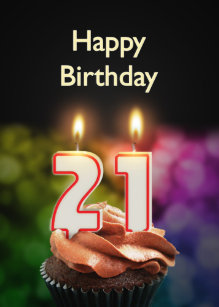 21st Birthday Card With Candles