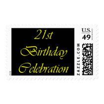 21st Birthday Celebration Postage