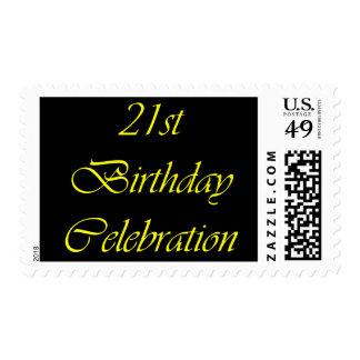 21st Birthday Celebration Stamp