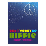 21st Birthday Chill Out Peace Party Invitations
