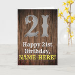 [ Thumbnail: 21st Birthday: Country Western Inspired Look, Name Card ]