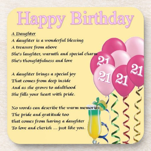 Short Daughter Birthday Poems 21st Birthday Daughter Poem