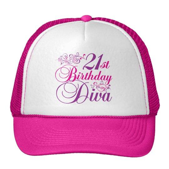 21st Birthday Diva Trucker Hat