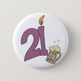 21st Birthday Drinks Button