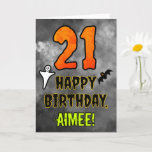 [ Thumbnail: 21st Birthday: Eerie Halloween Theme + Custom Name Card ]