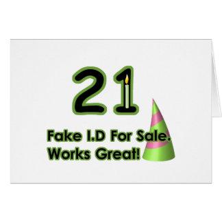 21st Birthday Fak I.D. Cards