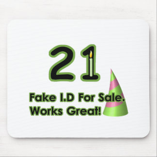 21st Birthday Fak I.D. Mouse Pad
