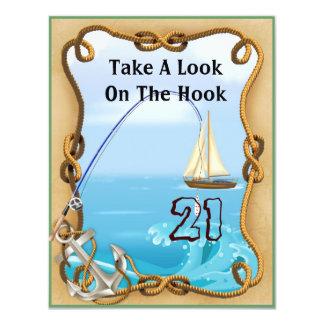 21st Birthday Fishing Invitations for MEN