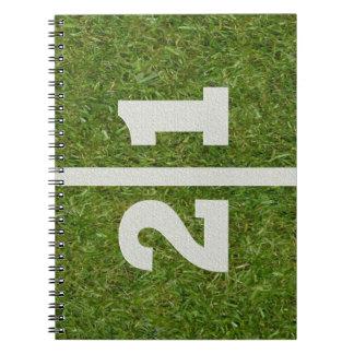 21st Birthday Football Field Notebook