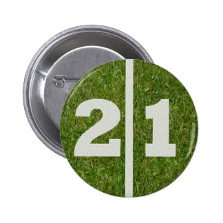 21st Birthday Football Yard Button