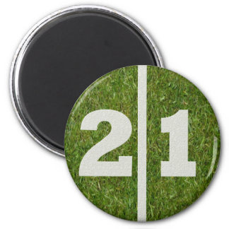 21st Birthday Football Yard Magnet