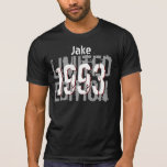 21st Birthday Gift 1993 Limited Edition Black Gray T Shirt