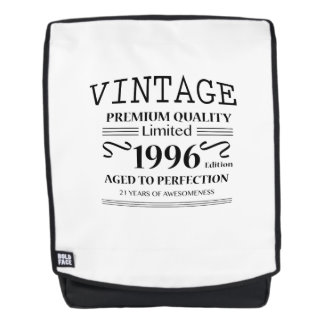 21st Birthday Gift Limited 1996 Edition -1996 Bday Backpack