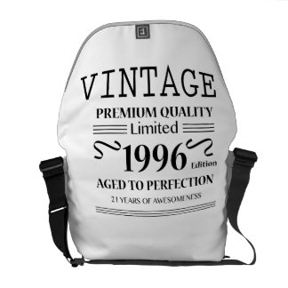 21st Birthday Gift Limited 1996 Edition -1996 Bday Messenger Bag