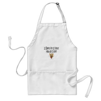 21st Birthday Gifts 21 Beers for 21 Years Adult Apron