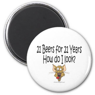 21st Birthday Gifts 21 Beers for 21 Years Magnets