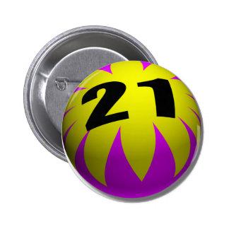 21st Birthday Gifts, Beach Ball 21! Button