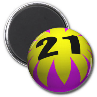 21st Birthday Gifts, Beach Ball 21! Magnet
