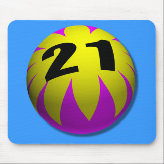 21st Birthday Gifts, Beach Ball 21! Mouse Pad