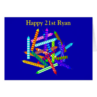 21st Birthday Gifts Card